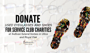 Donate shoes for Kiwanis charities at Sullivan Funeral Homes.